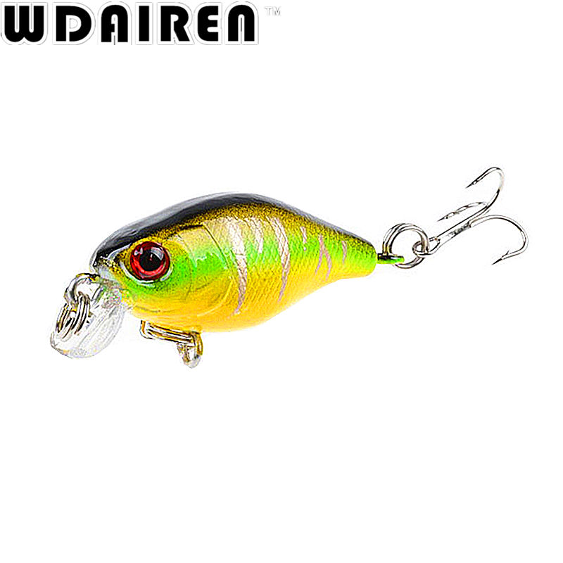 1Pcs 4.5cm 4g Crank Fishing Lures Hard Bait Minnow Fishing Lure Bass Crankbait Swimbait Trout Baits with 10# hooks Tackle 1pc fishing lure exported to japan fishing bait 5 3 sinking crankbait lures popper minnow bass crank bait hook tackle