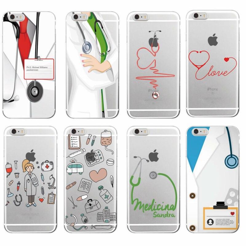 Nurse Medical Medicine Health Heart Soft TPU Phone Case Cover Coque Fundas For iPhone 7 7Plus 6 6S 6Plus 5 5S SE 5C 4 4S