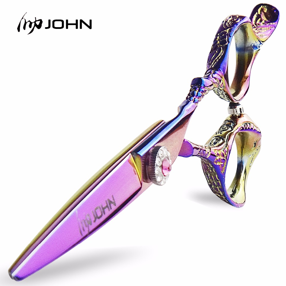 JOHN Razor Sharp Professional Hairdressing Gunting Japanese ATS314 Cobalt Alloy Steel Hair Shears for Barbers Cutting Thinning