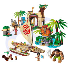 NEW 515Pcs Vaiana Moanas Ocean Voyage Restore The Heart Of Te Fiti Set Building Blocks Maui Toys Compatible with Girls Friends