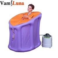 VamsLuna Portable Steam Sauna with Steam Generator Home Sauna Box for Slimming Detoxin Burning Calaries Relieve Pains Massage