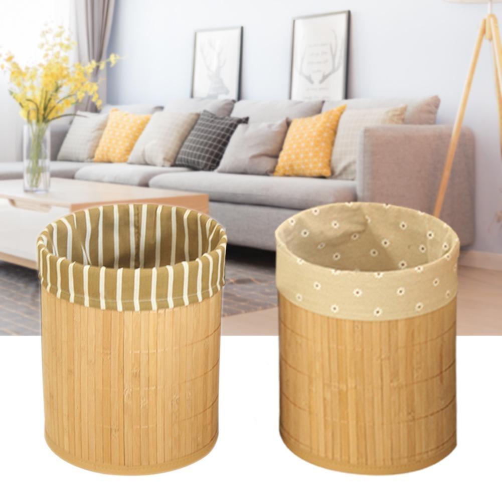 Wohnzimmer oder Schlafzimmer BHT: 20,0 x 25,5 x 20,0 cm Papierkorb aus Bambus mDesign M/ülleimer Bambus ohne Deckel quadratischer Abfallsammler f/ür B/üro natur