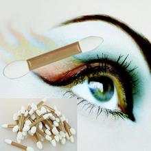 50pcs/set Soft Golden Disposable Double Ended Sponge Brush Eye Shadow Applicator Tools AU2