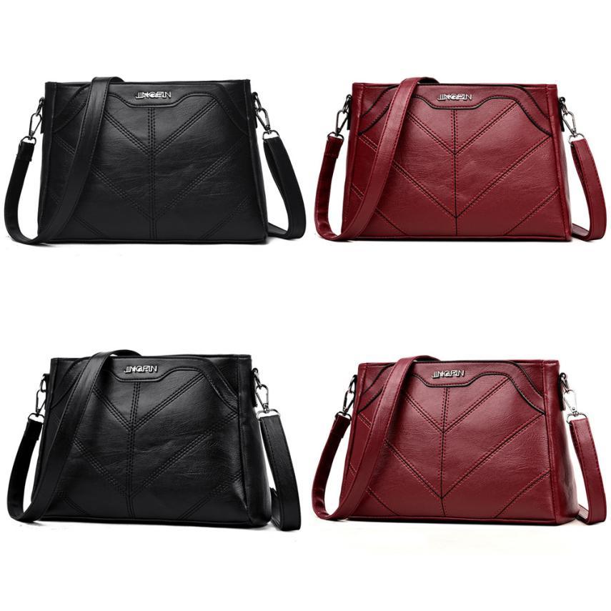 Molave Shoulder Bag new high quality Leather Girls Fashion Pure color Crossbody Messenger Zipper shoulder bag women AP3