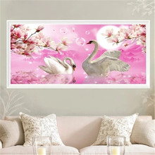 DiamondEmbroidery,China,landscape,scenery,Swan, 5D Diamond Painting, Cross Stitch, Flower Mosaic, Decoration
