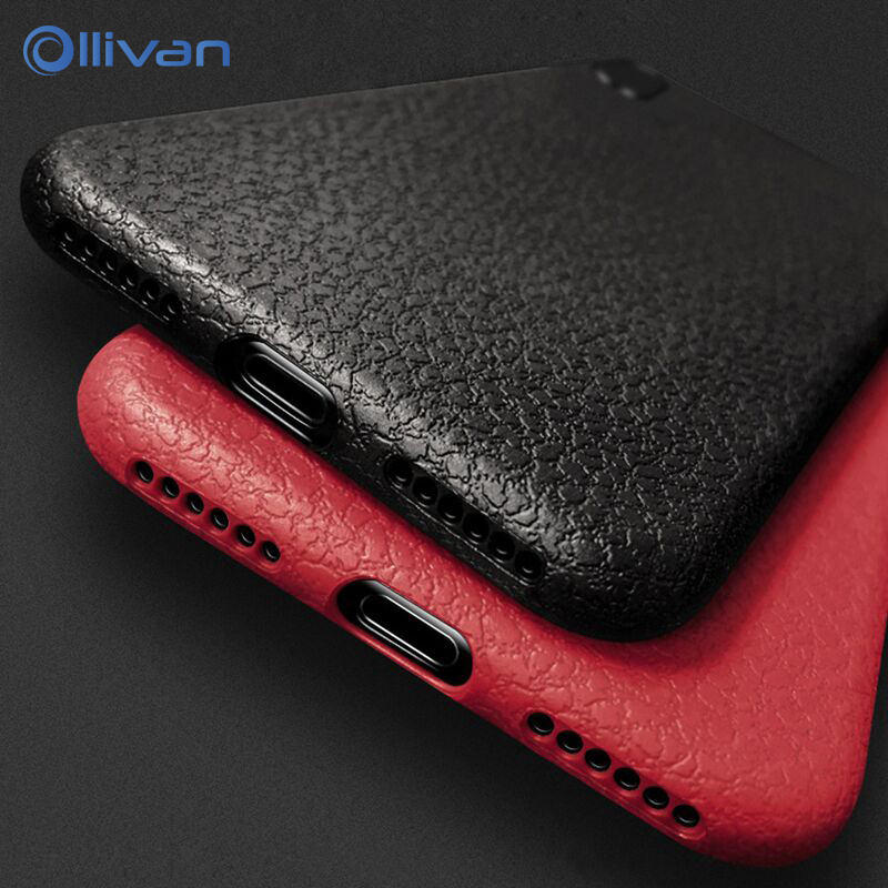 Original Ultra Thin Case For <font><b>iPhone</b></font> 11 Pro X Xs Max Xr <font><b>Cover</b></font> <font><b>Leather</b></font> Silicone Black Soft TPU Case For <font><b>iPhone</b></font> 7 8 6S <font><b>6</b></font> Plus Coque image