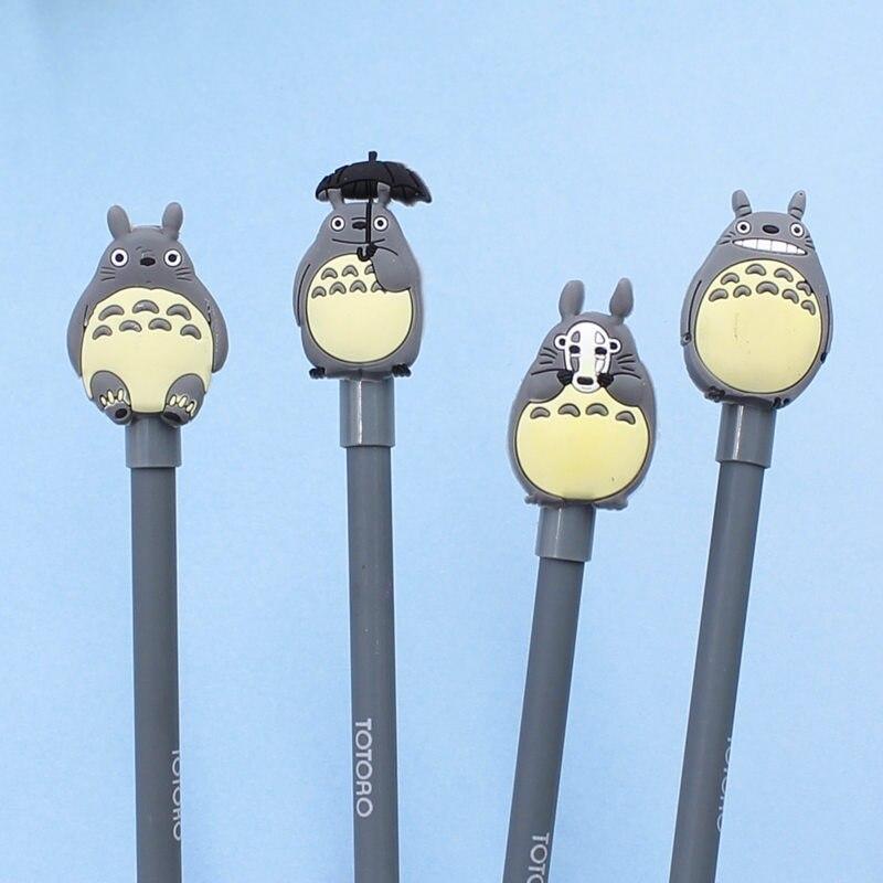 4pcs/lot 0.5mm Novelty Cute My Neighbor Totoro Gel Ink Pen Signature Pen Escolar Papelaria School Office Supply Promotional Gif