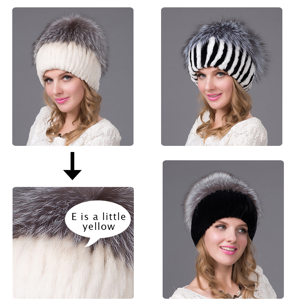 ef026b856c7 Fur Art Rabbit Fur Women s Hats With Balaclava Women s Winter Hats A ...