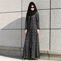 2017 Мусульманских Женщин Платье Фотографии Абая Турецкий Горячие Продажа Взрослых Полиэстер Нет Кафтан Новый Стиль Моды Кружева