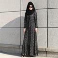 Mujeres musulmanes Visten Fotos Abaya Caftán Turco Venta Caliente Adultos Poliéster Ninguno 2016 Nuevo Estilo de Moda de Encaje Musulmán de Las Mujeres