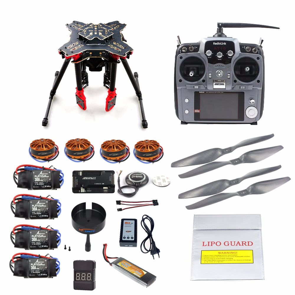 DIY GPS Drone RC Quadcopter HMF U580 Totem Series APM2.8 Flight Control 700KV Motor 30A ESC Radiolink AT10 TX&RX Full Set diy fpv mini drone qav210 zmr210 race quadcopter full carbon frame kit naze32 emax 2204ii kv2300 motor bl12a esc run with 4s