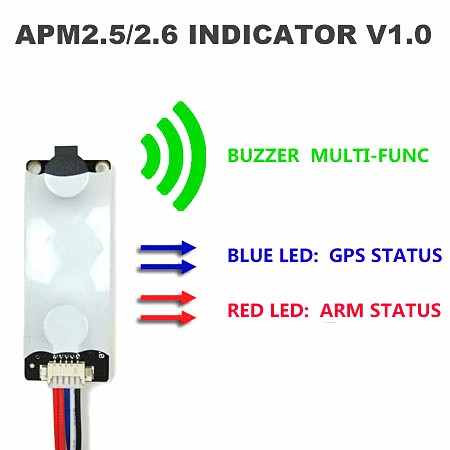 <font><b>APM</b></font> <font><b>2.8</b></font> APM2.6 / 2.5 MWC flight controller sound and light indicator (LED & Buzzer Indicator V1.0) image