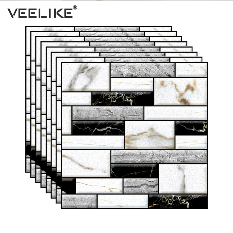 PVC 3D Brick Self Adhesive Wallpaper For Kitchen Backsplash Tiles Bathroom Wall Decor Bedroom Living Room Wall Papers Home Decor