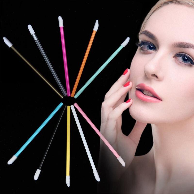 50PCS Disposable Eye Shadow Stick Lip Brush Lipstick Mascara Stick Makeup Gloss Wand Brush Girl Makeup Tools for Women in Eye Shadow Applicator from Beauty Health