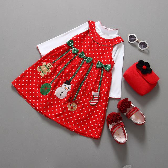 Año nuevo Invierno de Los Niños Trajes De Navidad Ropa de Bebé Establece Juego de Los Cabritos Del Bebé Muchachas de la Capa + Vestido de Los Bebés Capa + pantalones Nuevo 2 UNIDS