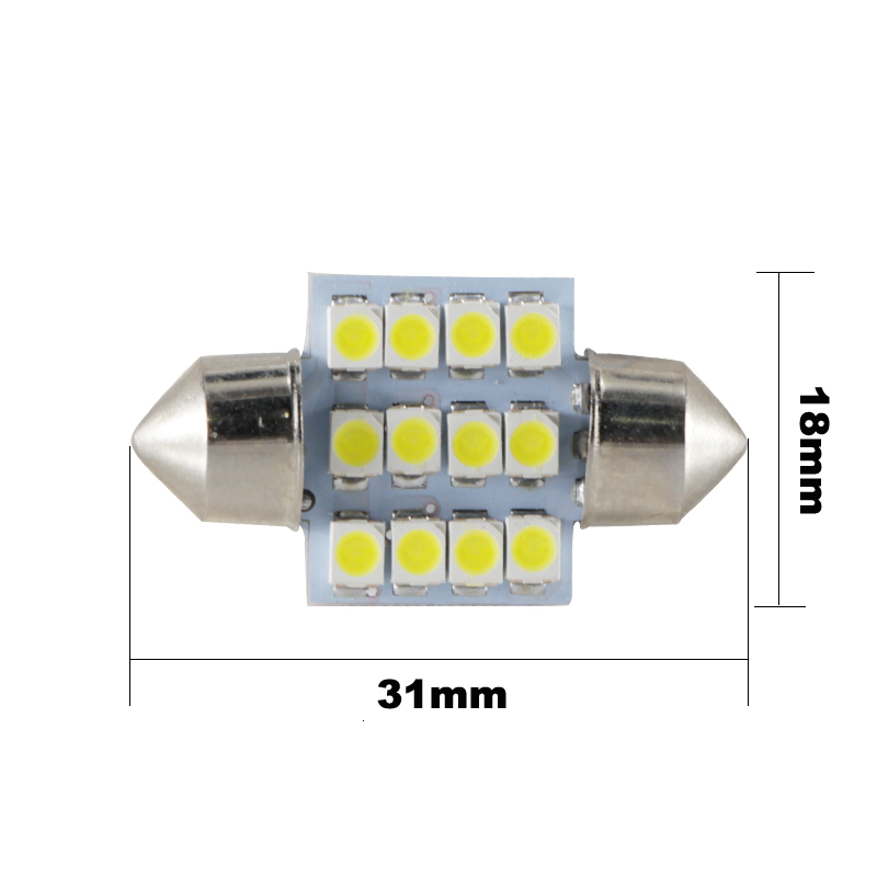 10x 3528 12 Smd Led Auto Car Interior Festoon Dome Bulbs Lamp Light Dc 12v 41mm Automobiles & Motorcycles Atv,rv,boat & Other Vehicle
