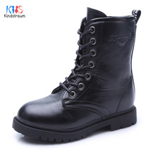 2017 Boy's Thermal Snow Boots for Winter Brand PU Leather Lace-Up Children Warm Boots Plush inside Kids Antiskid Boots, RJ504