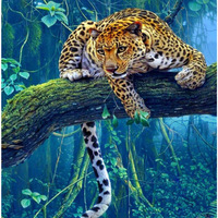 Diy Diamond Painting Animal Cross Stitch 5D Diamond Crystal Full Square Drill Mosaic Sets Leopard Diamond