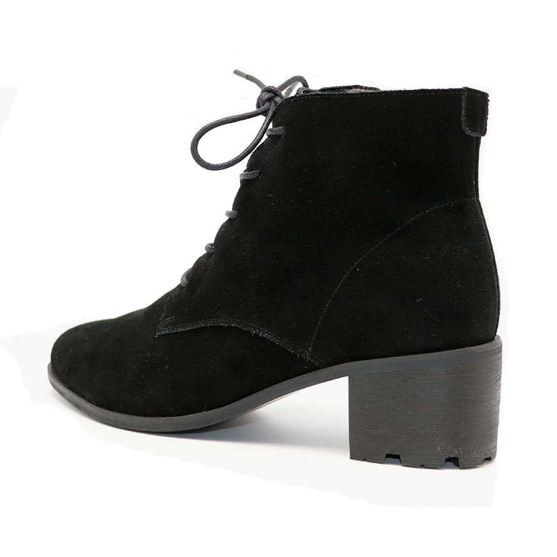 33 Cheville Talons Flock Cuir 42 courroie Bottes Taille Véritable Femmes Croix black Zip With Zip En Razamaza Bout Without Carrés Black De Chaussures Mode Pointu vqwE0xT