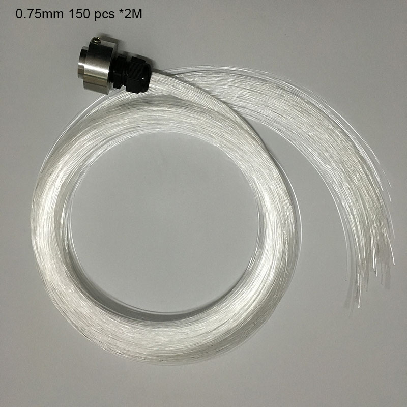 Free shipping 0.75mm PMMA plastic fiber optics cable 150pcs X 2Meters for all kind led light engine driver ...