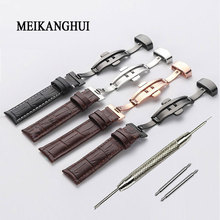 Watchband 18mm 19mm 20mm 21mm 22mm 24mm Soft Horlogeband Genuine Leather Watch Strap Watch Band for Tissot Seiko genuine leather watchband for oris culture aviation watch band butterfly buckle strap wrist belt 18mm 19mm 20mm 21mm 22mm 24mm