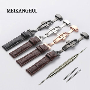 Watchband 18mm 19mm 20mm 21mm 22mm 24mm Soft Horlogeband Genuine Leather Watch Strap Watch Band for Tissot Seiko(China)