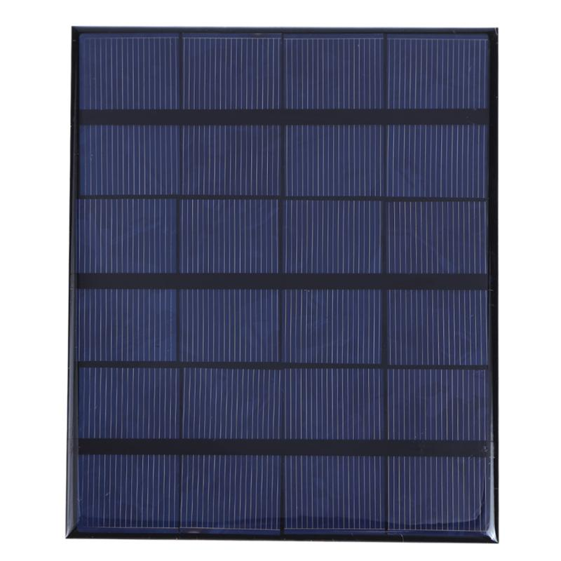 Alloyseed 3.5W 6V 580mA Solar Panel Polycrystalline Silicone Solar Cells Power Board Battery Power Supply Charger Panels