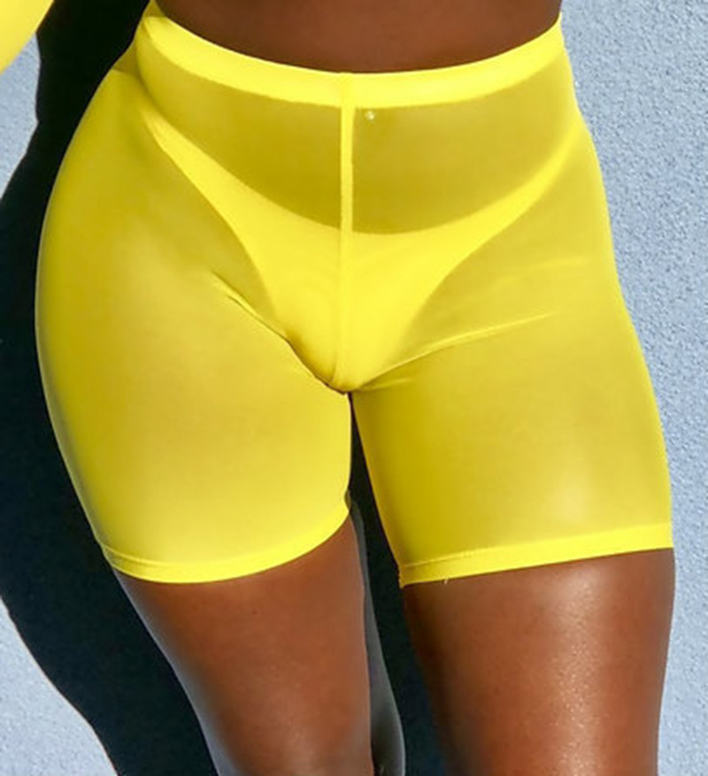 Women Mesh Transparent   Shorts   Sexy See Through   Short   For Ladies High Waist Club Wear Sweatpants Biker Bodycon Street   Shorts