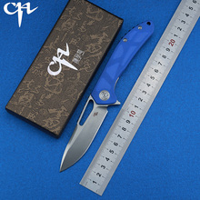 CH CH3509-G10 Flipper Folding Knife D2 Blade G10 Handle Ball Bearing Utility Outdoor Camping Tactical Knives EDC Tool ch 3001 flipper tactical ball bearing folding knife d2 blade g10 handle outdoor survival camping hunting pocket knives edc tools