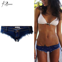 Pole Dance Short Sexy Women S Blue Thong Women Shorts Jeans Denim Micro Mini Ultra Low