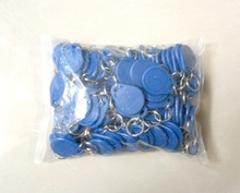 100pcs  NFC Tag ISO14443A 13.56Mhz Rfid Tags Keyfob Rewritable Compatible MF S50