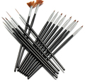 New 15pcs/lot  pretty black body brown head  Nail Art GeDesign Painting Pen Polish Brush Set Nail Beauty Nail Care,free shipping