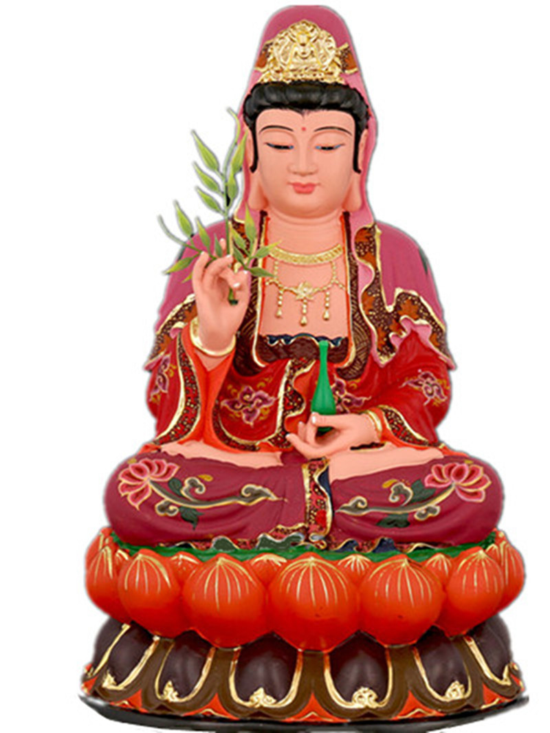 Fait à la main Sam West Maitreya bouddha Bodhisattva statue église culte ornements jiukujiunan chance Feng shui ornement