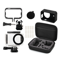 5in1 Full Protect Kit Bag For Xiaomi Mijia 4K Mini Camera Waterproof Housing Case Side Frame