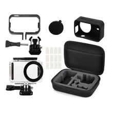 5in1 Full Protect Kit Bag for Xiaomi Mijia 4K Mini Camera Waterproof Housing Case Side Frame