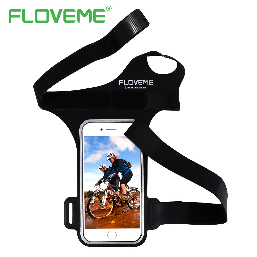 FLOVEME For <font><b>iPhone</b></font> 8 7 6 6S Plus Arm Band Universal Sports Running Wrist Band 5.5 inch Phone Pouch Bag Mobile Phone <font><b>Accessories</b></font>