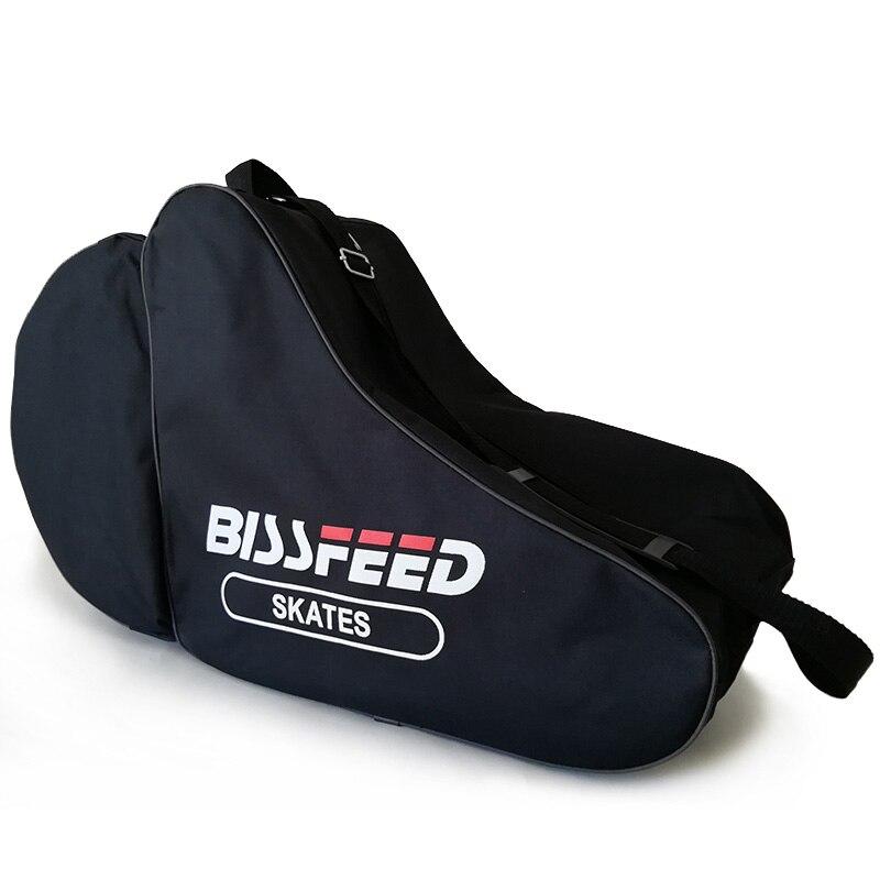 2019 NEW 1 Piece Triangle Roller Skate Bag Portable Carry Shoulder Strap Nylon Portable Bag Case Black For  Adult Children