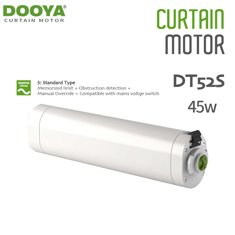 Dooya DT52S Electric Curtain Motor 220V Open Closing Window Curtain Track Motor Smart Home Motorized 45W Curtain Motor