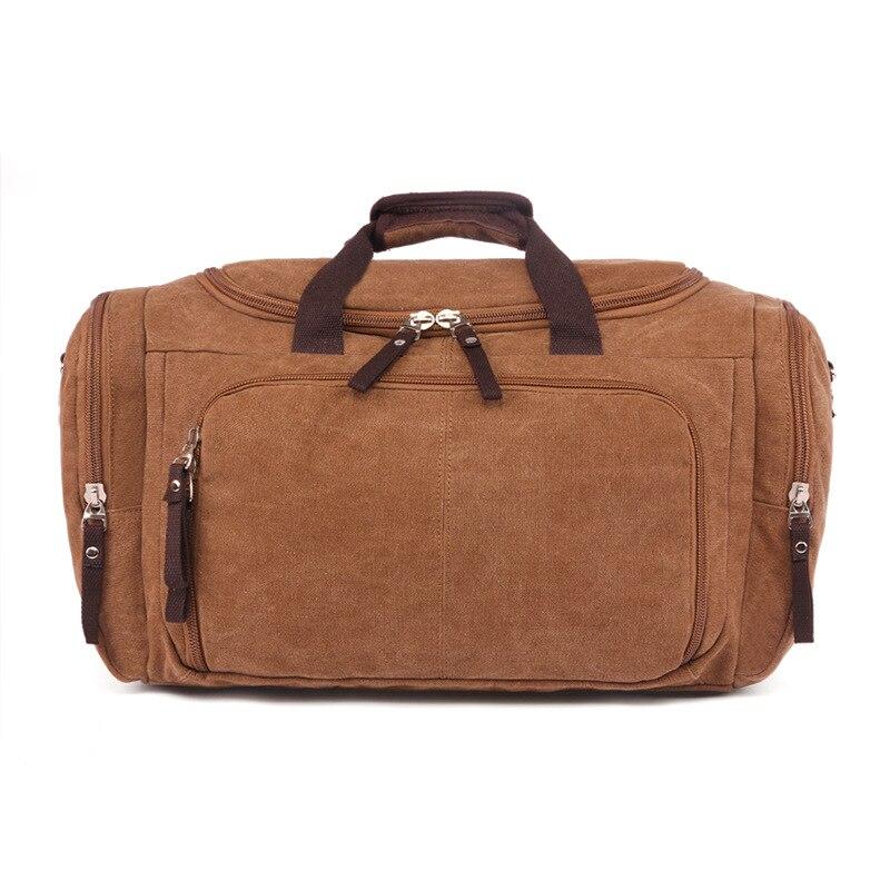 Vintage Canvas Stora Enkla Män Rese Väskor Kvinnor Bagage Rese - Väskor för bagage och resor - Foto 6