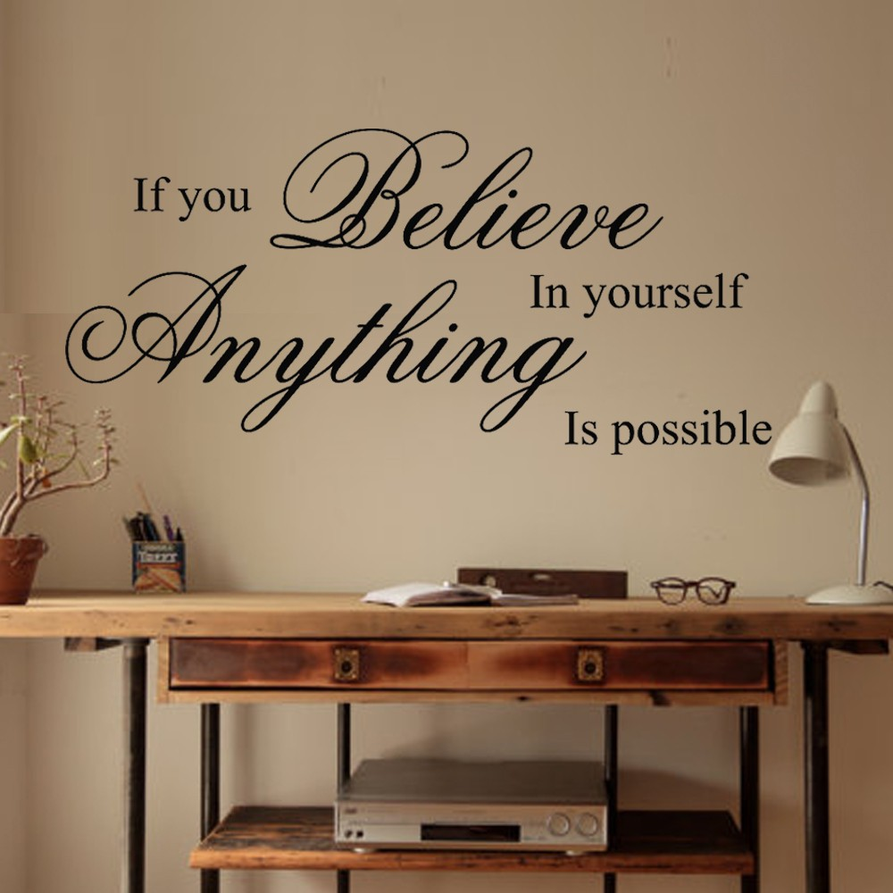 inspirational wall art for office. Perfect Office Believe In Yourself Inspirational Wall Quote Sticker Vinyl Decal Art Home  Office Decal 24 In For Office