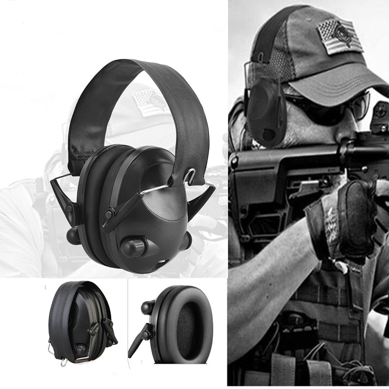LESHP Tactical Sport Headphones For Hunting Shooting Sport Noise TAC 6s Hearing Protector Earmuffs Folding Protection ceratec effeqt mini w mk iii silver