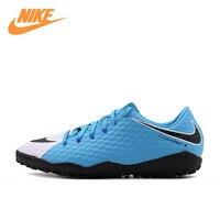 Оригинальный Новое поступление Официальный Nike HypervenomX Phelon III TF Для Мужчин's Футбол Ботинки футбола спортивный Спортивная обувь 852562 104