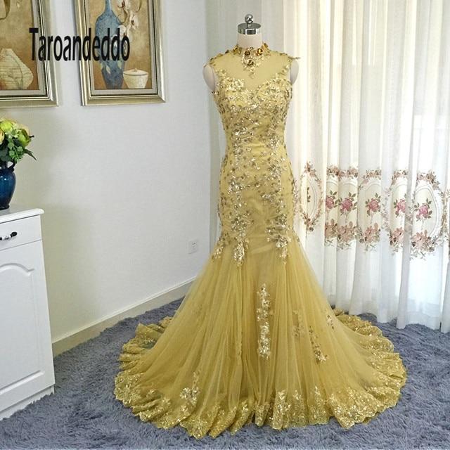2017 neue Art nixe Gold Prom Kleider Pailletten Lace Up Zurück ...