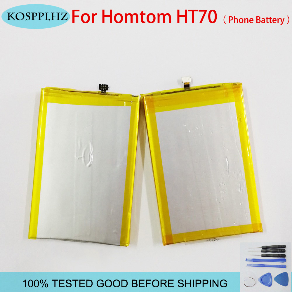 KOSPPLHZ For <font><b>Homtom</b></font> HT70 Battery <font><b>10000mAh</b></font> High capacity Replacement for <font><b>Homtom</b></font> HT70 Mobile Accessories+tools image