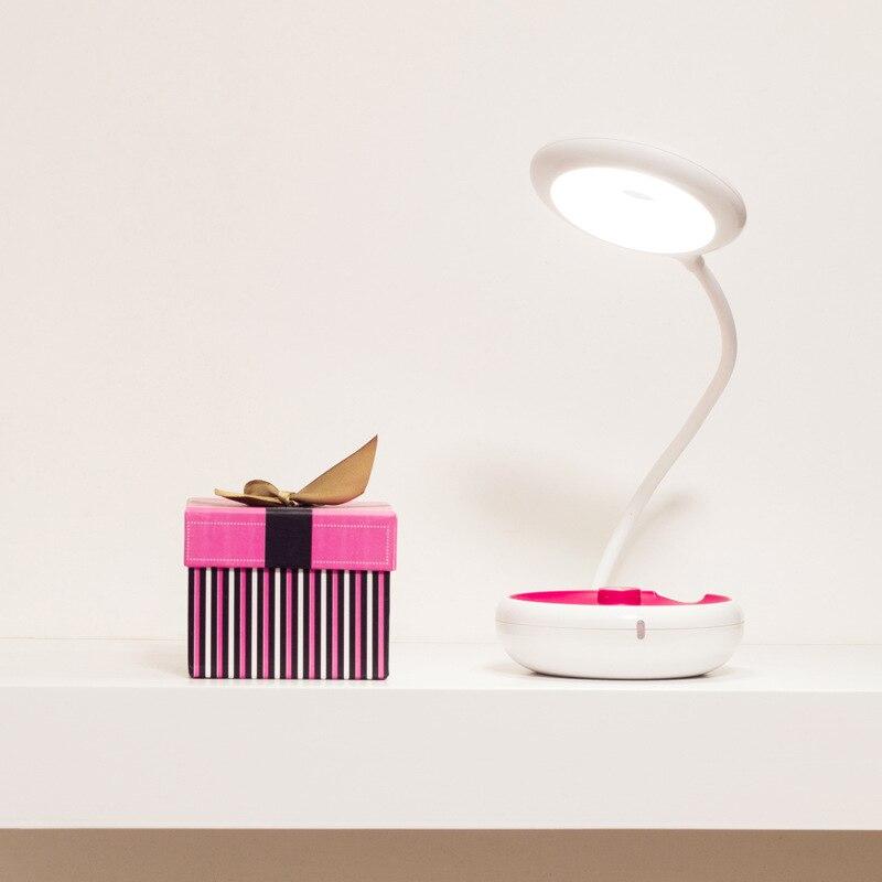 Творческий раза лампы зарядка через USB чтения с подсветкой Портативный Открытый Настольная лампа Защита глаз PowerBank кнопка включения огни