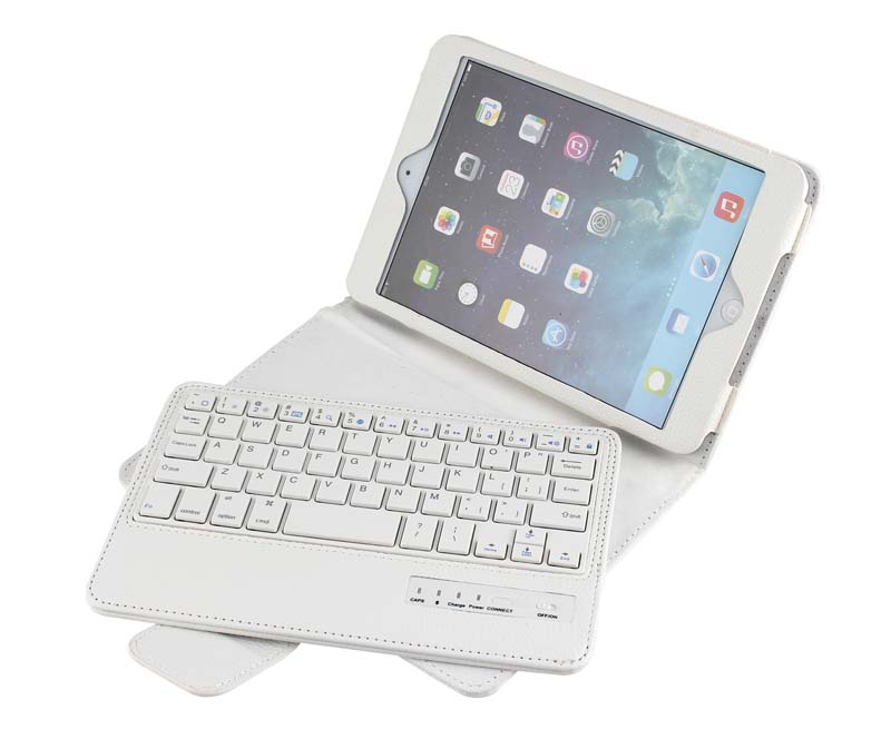 Removable Wireless Bluetooth Russian/Hebrew/Spanish Keyboard Stand PU Leather Case Cover For Apple Ipad Mini 4 Mini4 4Gen Tablet