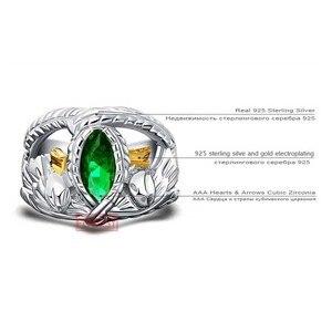 Image 5 - O senhor dos anéis 925 prata esterlina aragorn anel de barahir lotr anel de casamento moda masculino jóias fã presente alta qualidade
