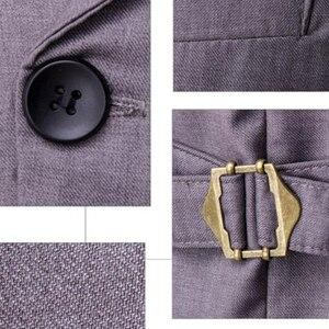 Image 5 - ขายร้อน Mens เสื้อและเสื้อกั๊ก Slim Masculino ฝ้ายคู่เสื้อแขนกุด Waistcoat ชุดสูทเสื้อสูทชายเสื้อกั๊ก