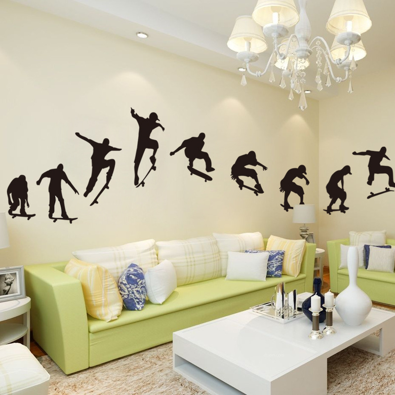 Popular sports wall posters buy cheap sports wall posters for Sports decals for kids rooms
