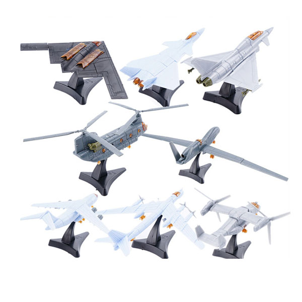 4D Third Generation 8 Models Aircraft J-20 Stealth Fighter B-2 Bomber Ospreys Helicopter Plastic Assembling Model model aircraft